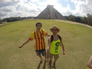 Marc and Arnau in Chichen Itzá, Mexico (2014)
