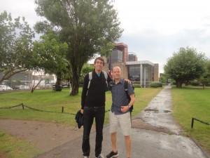 Compartint una estona amb en Jonas a l'Uruguai