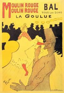 Arxiconegut cartell de Toulouse-Lautrec pel Moulin Rouge