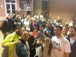 Molta gent ens va venir a rebre a Girona