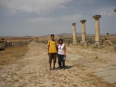 In Volubilis with my aunt Rosa (2009)